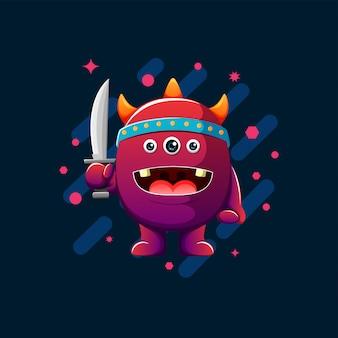 Illustrazione di mostri carino