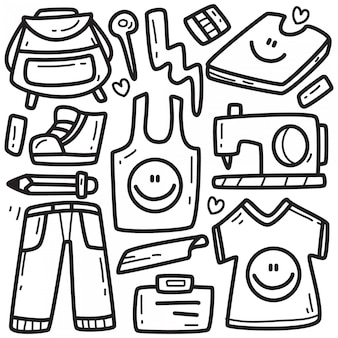 Illustrazione di mostro carino doodle