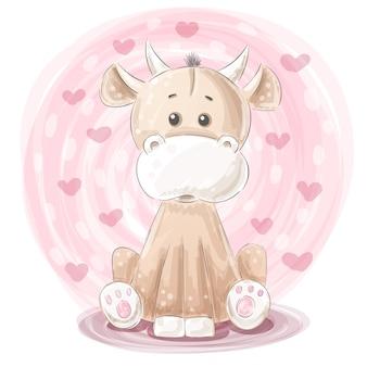 Illustrazione di mucca carina