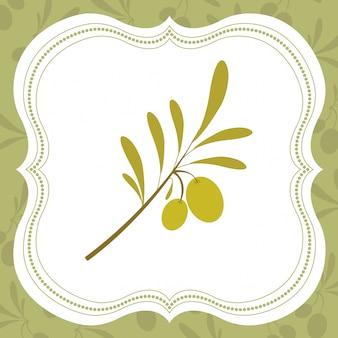 Illustrazione di olio d'oliva