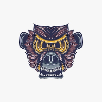 Illustrazione di opera d'arte di scimmia