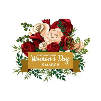 Illustrazione di ornamento floreale per la giornata internazionale delle donne