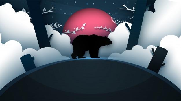 Illustrazione di orso dei cartoni animati.