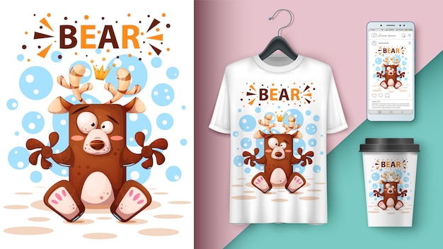 Illustrazione di orso dei cartoni animati