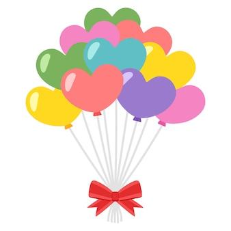 Illustrazione di palloncini cuore