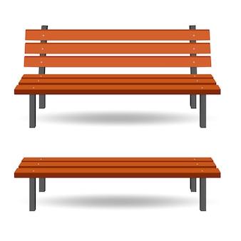 Illustrazione di panca in legno. panchina del parco. panchina isolata.