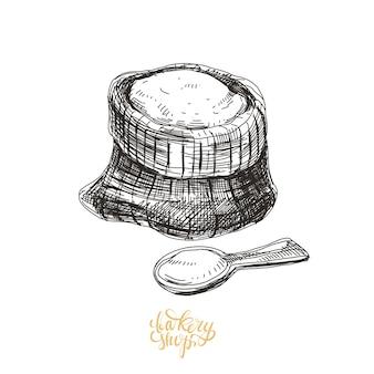 Illustrazione di panetteria disegnata a mano.