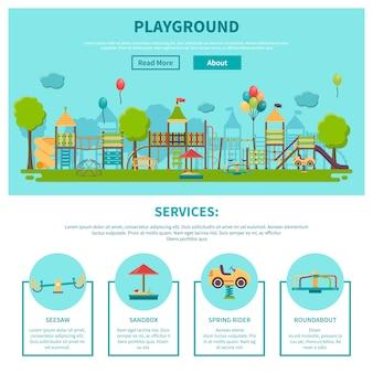 Illustrazione di parco giochi all'aperto
