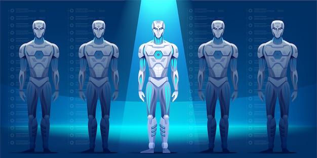 Illustrazione di personaggi robot