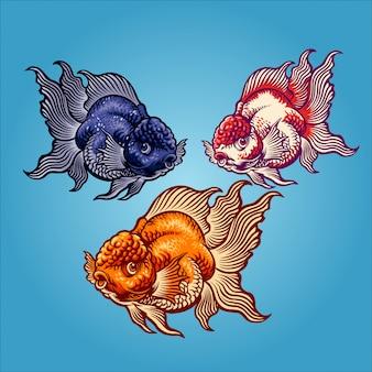 Illustrazione di pesce d'oro