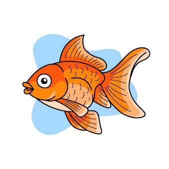 Illustrazione di pesce rosso