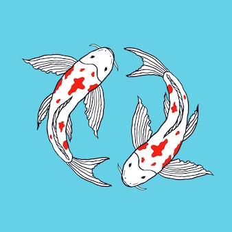 Illustrazione di pesci koi
