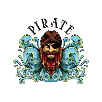 Illustrazione di pirata giavanese