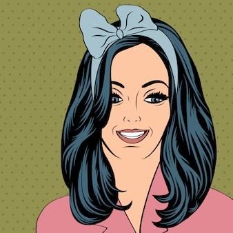 Illustrazione di pop art della ragazza