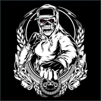 Illustrazione di posa di combattimento
