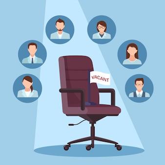Illustrazione di posizione di lavoro vacante