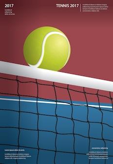 Illustrazione di poster campionato di tennis