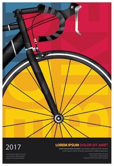 Illustrazione di poster in bicicletta