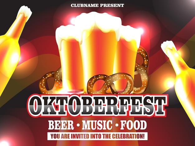 Illustrazione di poster vettoriale oktoberfest