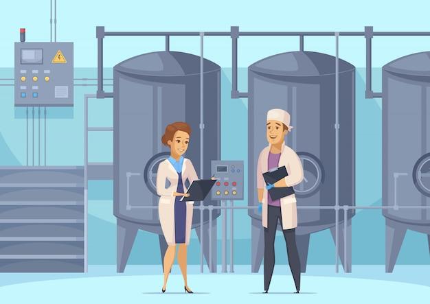 Illustrazione di produzione lattiero-casearia