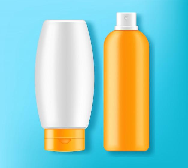 Illustrazione di progettazione 3d della crema della protezione solare