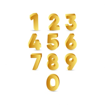 Illustrazione di progettazione del modello dell'etichetta dell'oro di numero 3 d