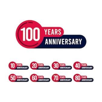 Illustrazione di progettazione del modello di anniversario di 100 anni
