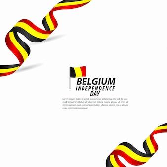 Illustrazione di progettazione del modello di vettore di celebrazione di festa dell'indipendenza del belgio