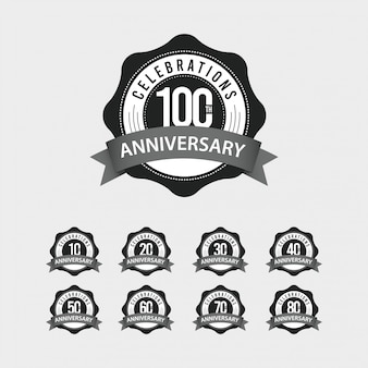 Illustrazione di progettazione del modello di vettore di celebrazioni di anniversario di 100 esimo