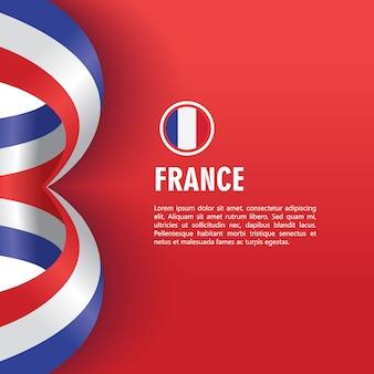 Illustrazione di progettazione del modello di vettore di festa dell'indipendenza della francia