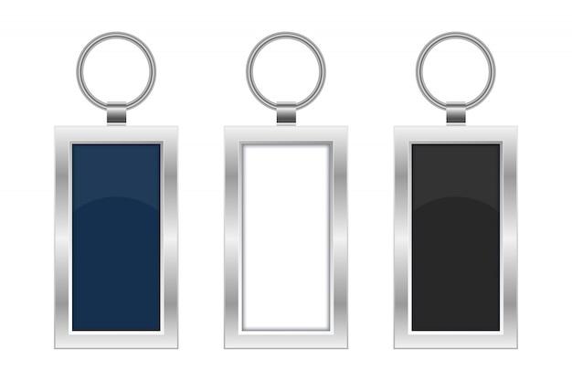 Illustrazione di progettazione del portachiavi isolata su fondo bianco