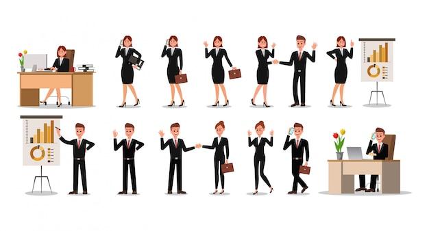 Illustrazione di progettazione di carattere della gente di affari.