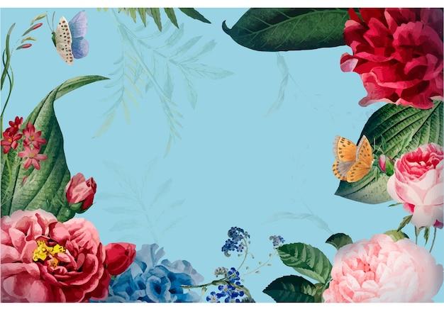 Illustrazione di progettazione di carta cornice floreale