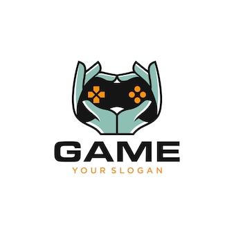 Illustrazione di progettazione di logo del controller di gioco