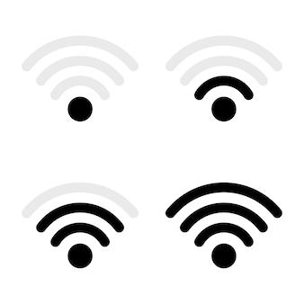 Illustrazione di progettazione di vettore di internet wifi isolata su bianco