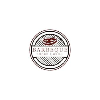 Illustrazione di progettazione logo barbecue