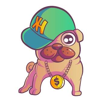 Illustrazione di pug dog.
