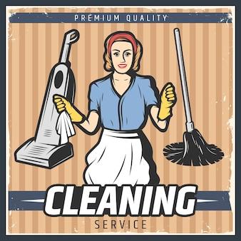Illustrazione di pulizia vintage