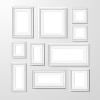 Illustrazione di raccolta foto cornici a parete