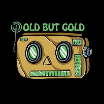 Illustrazione di radio robot retrò
