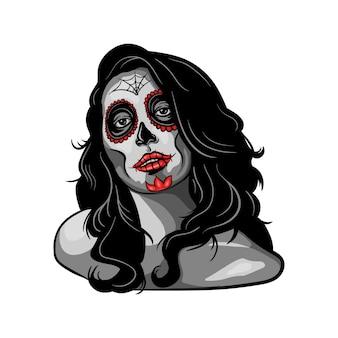 Illustrazione di ragazza muerte