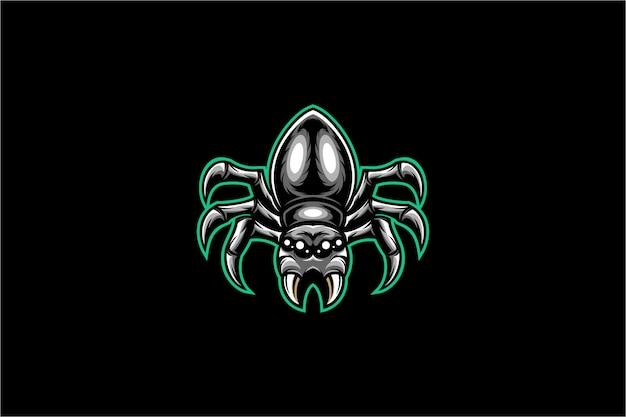 Illustrazione di ragno nero