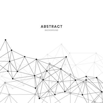 Illustrazione di rete neurale bianca