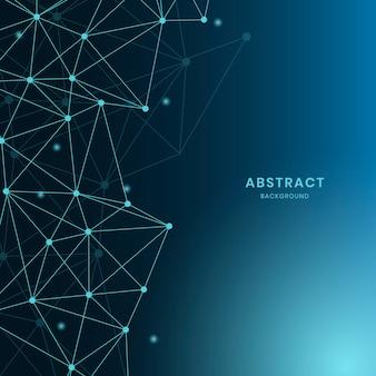 Illustrazione di rete neurale blu