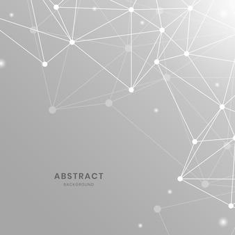 Illustrazione di rete neurale grigia