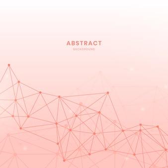 Illustrazione di rete neurale rosa