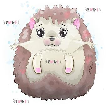 Illustrazione di riccio carino