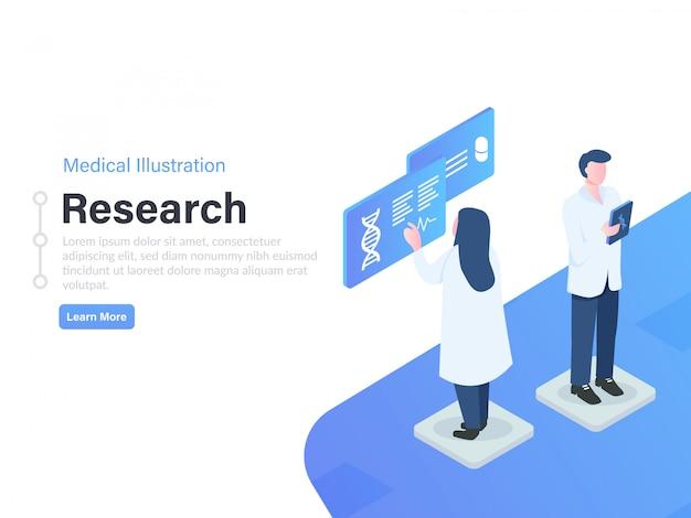 Illustrazione di ricerca isometrica medico