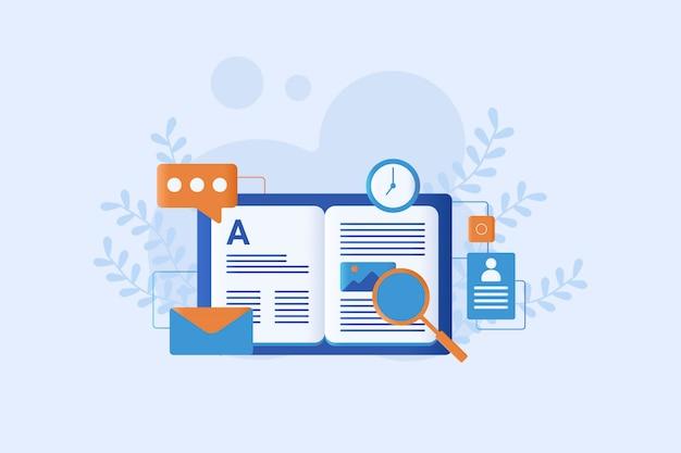 Illustrazione di ricerca piatta