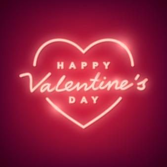 Illustrazione di san valentino al neon